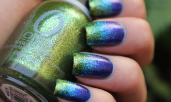 summer nail couture bright colors glitter bling nude