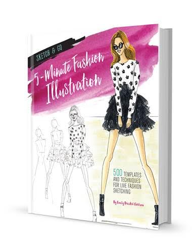 sketch go 5 minute fashion illustration fab five lifestyle