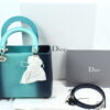 Dior Limited Edition Ombre Lizard Bag Mint in Box