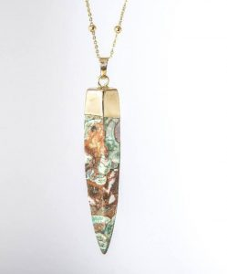 Ocean Jasper Energy Necklace Perfect For Valentines Day