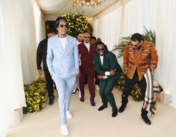 Jay-Z wears a custom Baby Blue FRÈRE suit