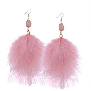 Rose Quartz Druzy earrings