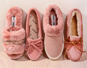 Pretty in Pink with Minnetonka Shoes This Fall