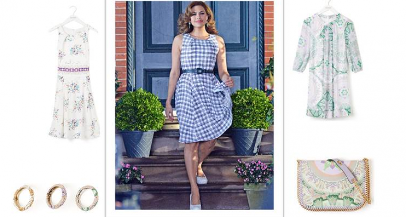 EVA MENDES ALL ABOUT THE GLAMOUR SPRING 2015 COLLECTION