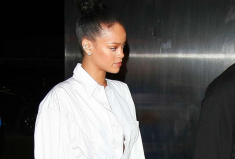 Rihanna Rocks A Lydia Couteille green tourmaline ring