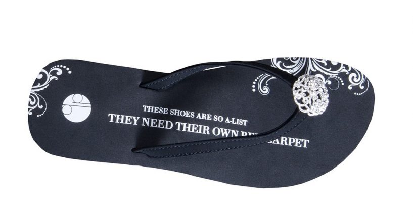 Get The Black Butterfly Flip Flops We Adore By Girl Two Doors Down