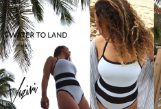 World Champion Swimmer Debut of Vaziri Swim's SS2016 Collection