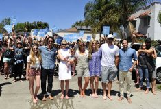 """Celebrities go barefoot in support of TOMS """"One Day Without Shoes"""""""