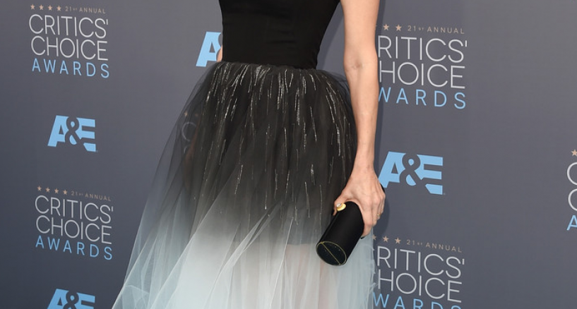 Leslie Mann, Black Diamond Glam At The Critics' Choice Awards