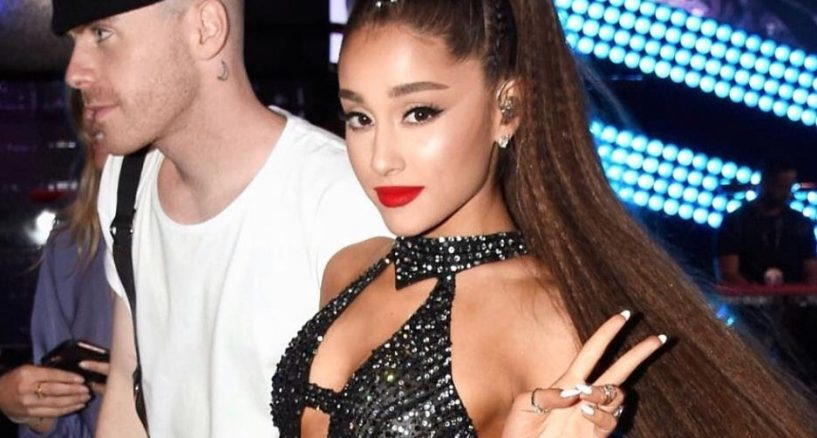 Ariana Grande Rocks The Bodysuit top by Maison Alexandrine