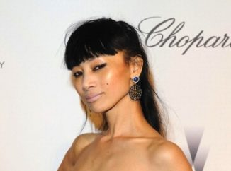 66th Annual Cannes Film Festival Bai Ling enjoyed a night on the town in a stunning navy gown from Gemy Maalouf