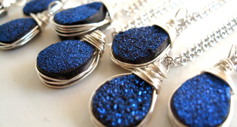 Titanium Druzy Collection of Necklaces Celebrities Say Yes To