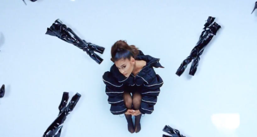 Ariana Grande, Black Platform Thigh High Boot Appeal