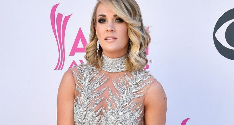 Carrie Underwood Rocks Harry Kotlar diamond drop earrings
