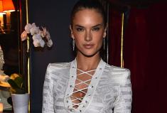Alessandra Ambrosio Red Carpet Diamond Earring Style Moment