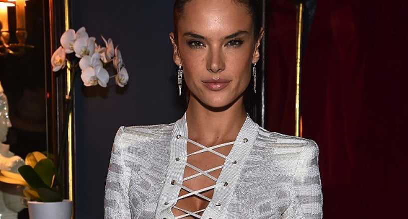 Alessandra Ambrosio Red Carpet Diamond Earring Style Moment