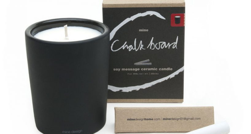 Mine Design Chalkboard Ceramic Candle Scent is Heavenly