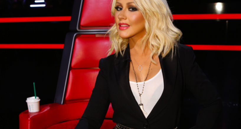 Christina Aguilera Yellow Diamond Necklace Dazzles All