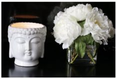 Thompson Ferrier White Buddha Candle Gift To Give