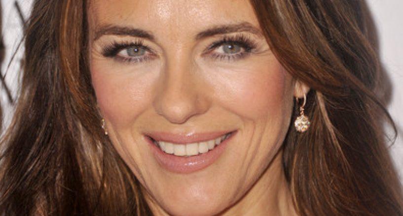Elizabeth Hurley wearing Le Vian diamond earrings