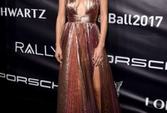 Maria Menounos Red Carpet Moment At Gabrielle's Angel Foundation's Angel Ball