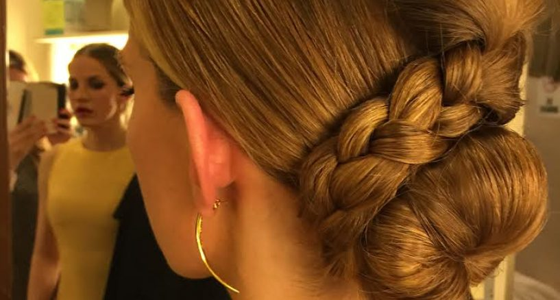 Hair Style Spotlight On Anna Chlumsky's Wrap-Up Braided Bun