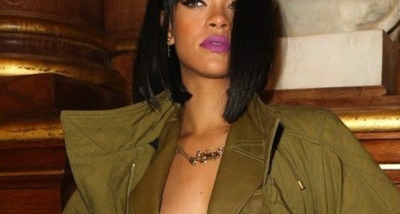 Rihanna Wearing A Le Vian Diamond Snake Ring At The Balmain Show