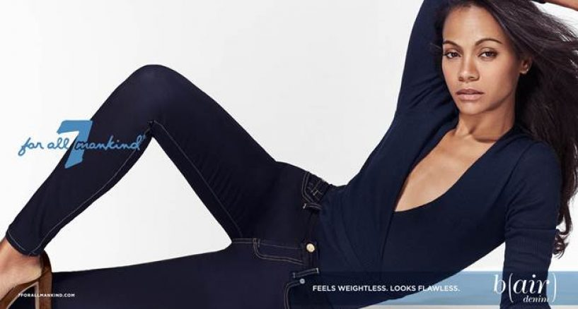 Zoe Saldana 7 For All Mankind Debuts Fall/Winter 2016 Brand Campaign