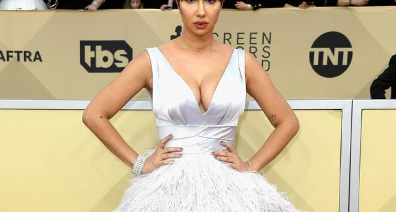 Jackie Cruz Red Carpet Diamond Jewel Sag Awards Style
