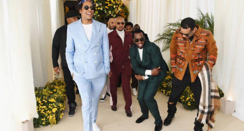 Jay-Z Rocks Baby Blue FRÈRE suit