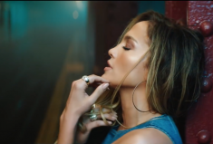 Jennifer Lopez Rocks diamond hoop earrings in her new video