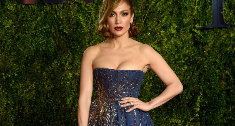 Jennifer Lopez in Harry Kotlar at The Tony Awards