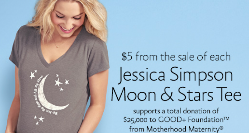 Jessica Simpson Maternity Tee Shirt Gives Back to Families in Need