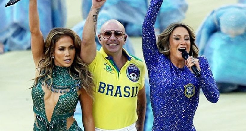 Jennifer Lopez, Pitbull, 2014 FIFA World Cup Soccer polo shirt collection