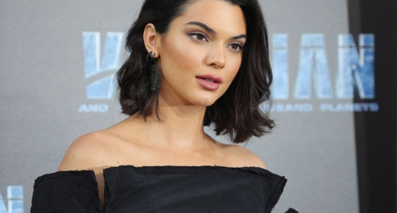 Kendall Jenner, Djula black diamond feather earrings, Her Fab Jewel Style