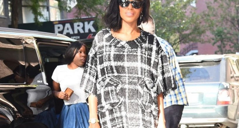 Kerry Washington's diamond double spike drop earrings rock