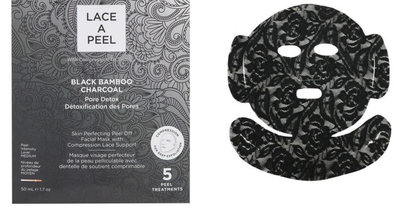 DERMOVIA LACE A PEEL Black Bamboo Charcoal Mask Great For the Skin