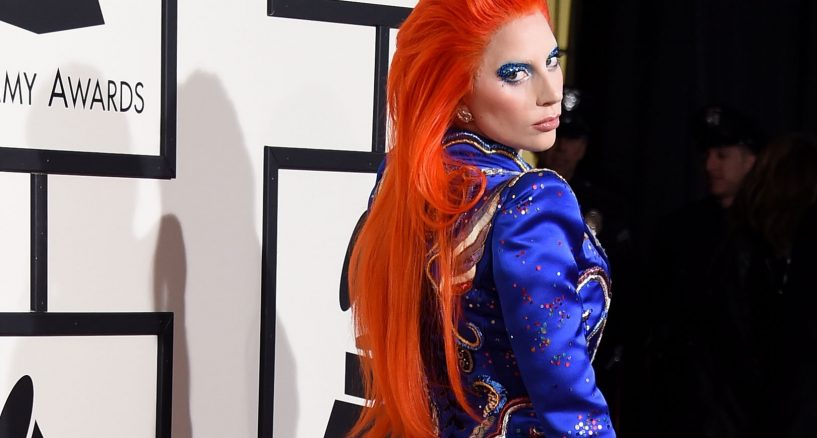 Lady Gaga Red Hair Senesation At The 2016 Grammy Awards