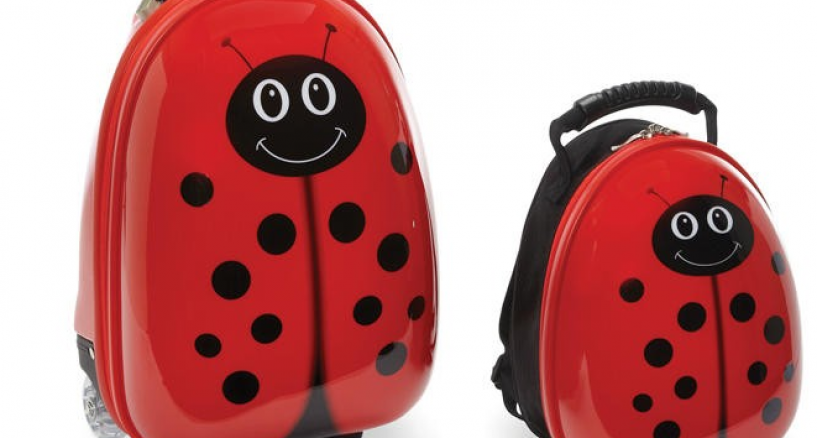 "Travel Buddies ""Fab Favorite"" LadyBug Trendy Backpack Power!"