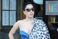 Lady Gaga, Wear Fab tailored blue jumpsuit by Gemy Maalouf