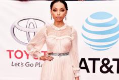 Logan Browning NAACP Image Awards Red Carpet Dress Moment
