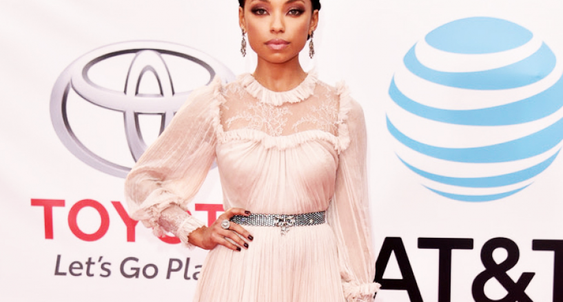 Logan Browning NAACP Image Awards Red Carpet Dress Moment