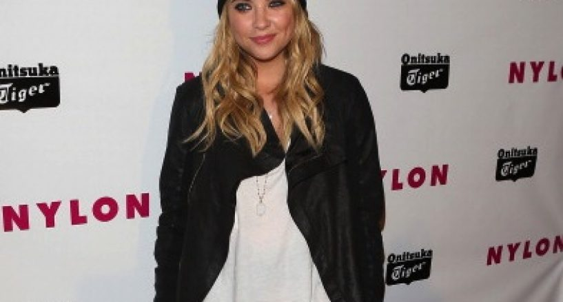 Pretty Little Liars Ashley Benson red carpet spotlight on her designer jewels at Nylon's Young Hollywood party