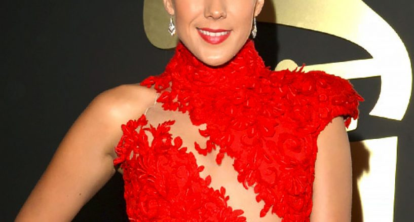 GRAMMY Awards Fab Red Dress Worn By Colbie Caillat