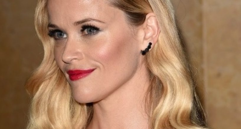 Reese Witherspoon Star Style Alert on Jack Vartanian black diamond ear climbers