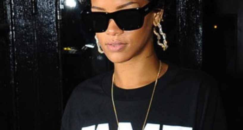 Rihanna's Fab Five Style, Wearing FRANK151 x Hall of Fame Collaboration