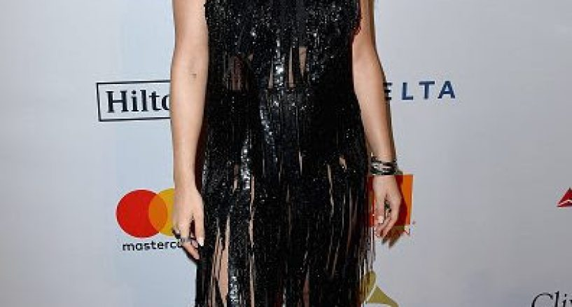 Rita Ora, Pre-Grammy Gala, ELIE SAAB Red Carpet Stye Power