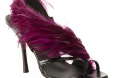 Dries Van Noten Feathered Asymmetric Sandals Available Now