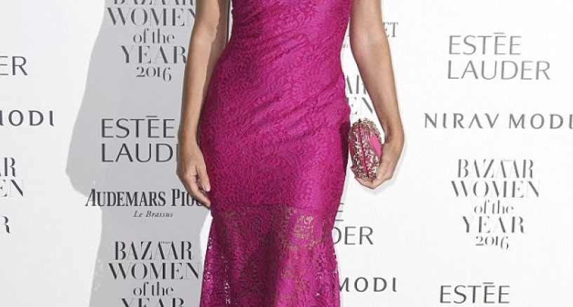Elizabeth Hurley Style At Harper's Bazaar Women of The Year Award Event