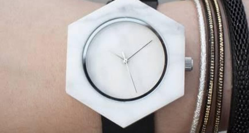 Watch Style Refined by Marble with Analog Watches